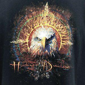 Vtg Harley Davidson Graphic Tshirt Eagle David Uhl